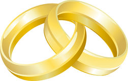 Wedding Ring Bands. A vector illustration of intertwined wedding bands or rings Stock Photography