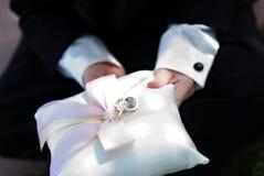 Wedding Ring Bearer Stock Image