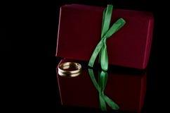 Wedding ring box Stock Photography