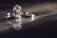 Wedding ring for couple. stock photography