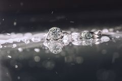 Wedding ring for couple. stock image