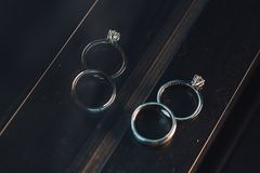 Wedding ring for couple. stock photo