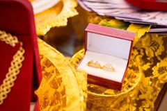 Wedding ring bride royalty free stock images