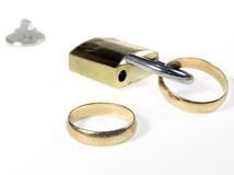 Wedding ring conception Royalty Free Stock Images