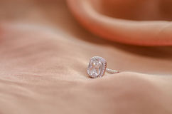 Wedding ring with diamond Royalty Free Stock Photography