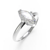 Wedding ring with diamond. 3D rendering Royalty Free Stock Image