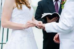 Free Wedding Ring Exchange Stock Photography - 24043632