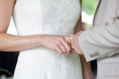 Wedding ring exchange Royalty Free Stock Photos