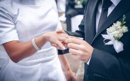 Wedding Ring Exchange Stock Images