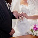 Wedding ring exchange Royalty Free Stock Image