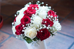 Wedding ring. Wedding flowers for wedding day Royalty Free Stock Photography