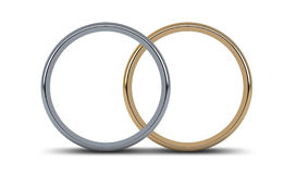 Wedding Ring Gold Pair Stock Images