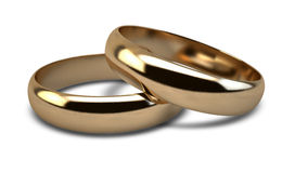 Wedding Ring Gold Pair Stock Photography