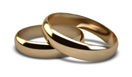 Wedding Ring Gold Pair Stock Photo