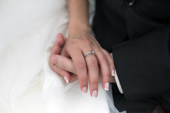 Wedding ring on hand Stock Image