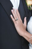 Wedding Ring On Hand Of Bride Stock Image
