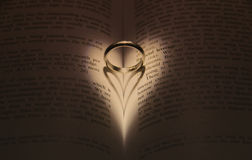 Wedding ring with heart Royalty Free Stock Photos
