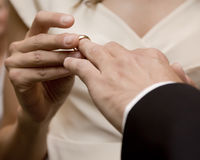 Wedding ring for him Stock Photo