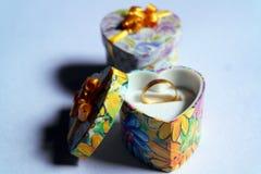 Wedding Ring, Gift Box, Christmas Gift Box Royalty Free Stock Images