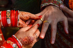 Wedding ring hindu Royalty Free Stock Photography