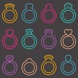 Wedding ring icons vector illustration