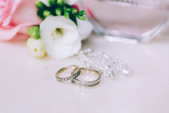 Wedding ring jeweled Stock Photography