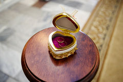 Wedding ring for newlyweds Royalty Free Stock Image