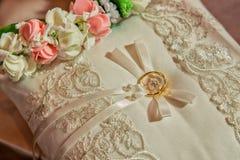 Wedding ring pillow Stock Image