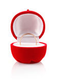 Wedding ring in red box Royalty Free Stock Photography