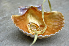 Wedding Ring Ribbon Royalty Free Stock Image
