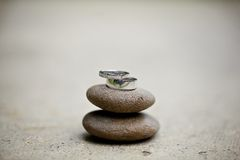 Wedding ring on stone Royalty Free Stock Images