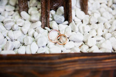 Wedding ring on the stone Royalty Free Stock Images