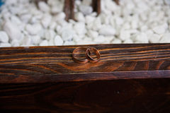 Wedding ring on the stone Stock Photography