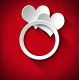 Wedding Ring and Two Hearts Royalty Free Stock Photo