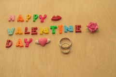 Wedding ring on valentine day Stock Photography
