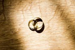 A wedding ring or wedding band Royalty Free Stock Images