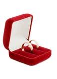 Wedding ring on white background Stock Photography