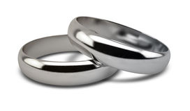 Wedding Ring White Gold Pair Stock Photography