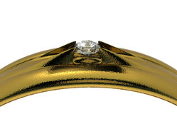 Wedding ring wiht diamond Royalty Free Stock Photography