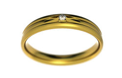 Wedding ring wiht diamond Royalty Free Stock Images