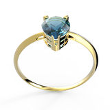 Wedding ring wiith diamond. 3D illustration Royalty Free Stock Images