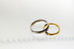 Wedding rings-01 Royalty Free Stock Image