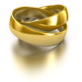 Wedding rings. Isolated on white Royalty Free Stock Images