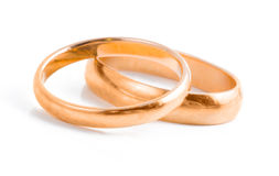 Wedding rings. Isolated on white background Stock Photo