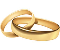 Wedding rings. Blend and gradient only - no mesh or transparency Stock Photography