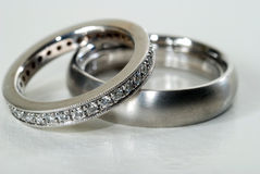 Wedding Rings. A close up of two wedding rings Royalty Free Stock Image