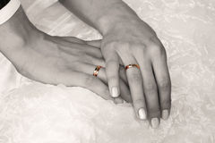 Wedding rings. Wedding moments Stock Photos