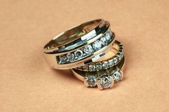Wedding Rings. Male and Female Wedding Rings Royalty Free Stock Photo