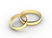 Wedding Rings. Gold Wedding Rings on white background Royalty Free Stock Images