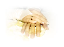 Wedding rings. Of a bride and a groom Stock Images